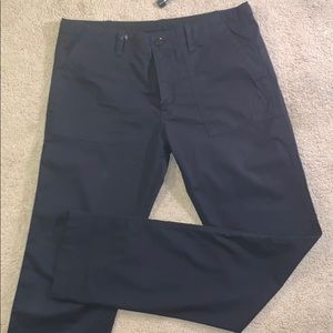 Burberry Brit Cotton Poplin Navy Pants Like New 32
